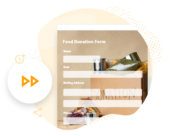 food donation form template