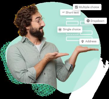 generateur de formulaires de contact avec differents champs de questions