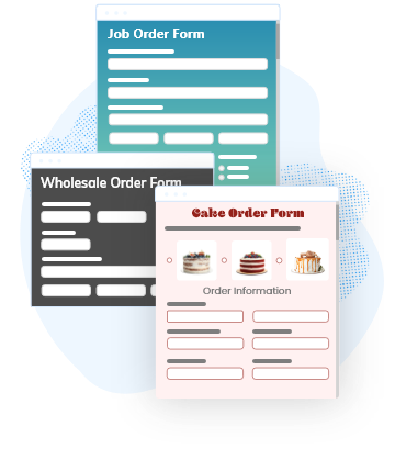 collection of order form templates