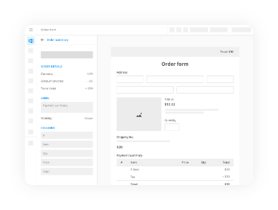 form builder with payment integration