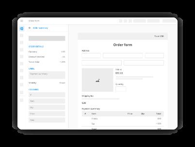 générateur de formulaires avec intégration de paiement