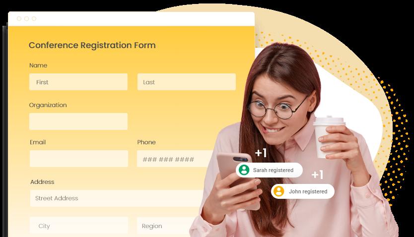 Event Registration Form Online Free 123 Form Builder