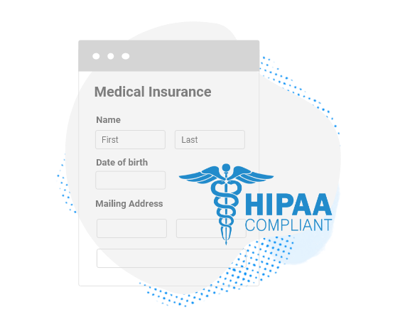 HIPAA secure medical insurance form