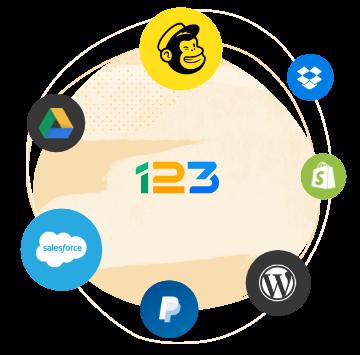 integrations du 123 form builder