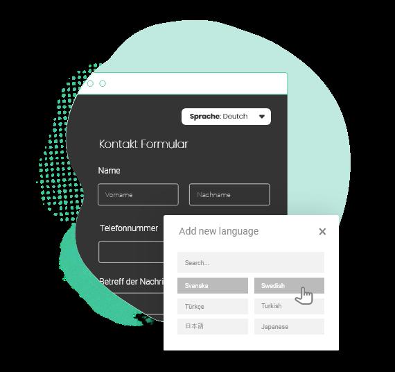 formulaire de contact multilingue