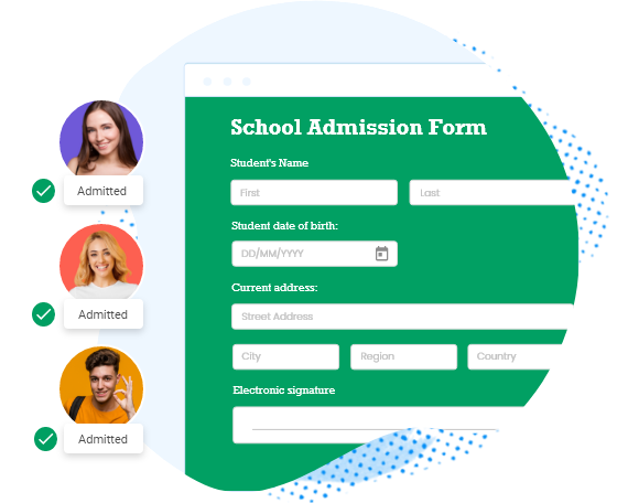 online school admission form