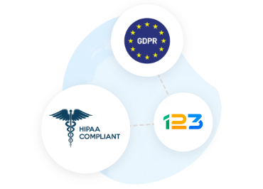123 Form Builder security compliances - GDPR and HIPAA