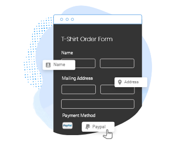 drag and drop order form builder