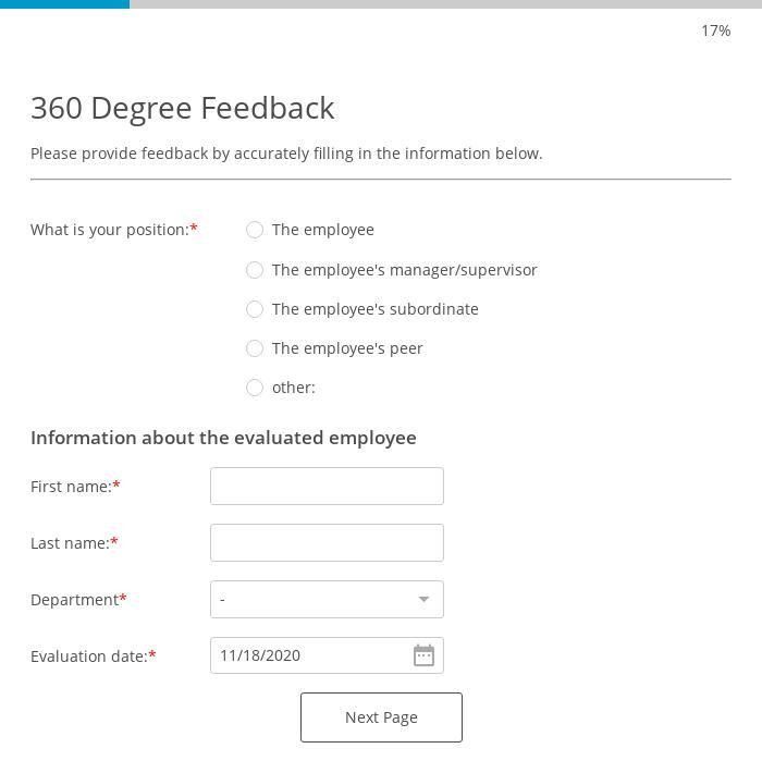 360 Degree Feedback Form