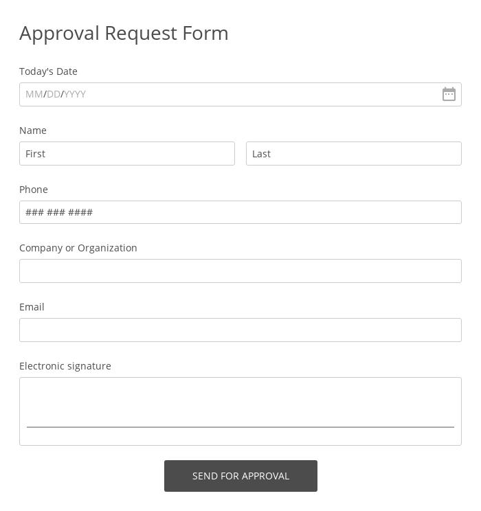 Approval Request Form