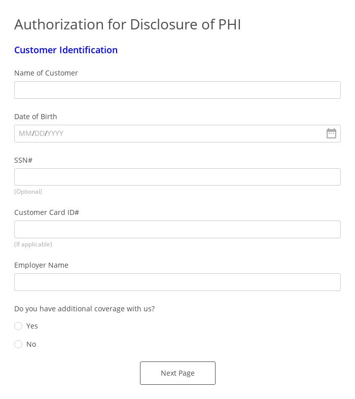 Authorization for Disclosure of Protected Health Information