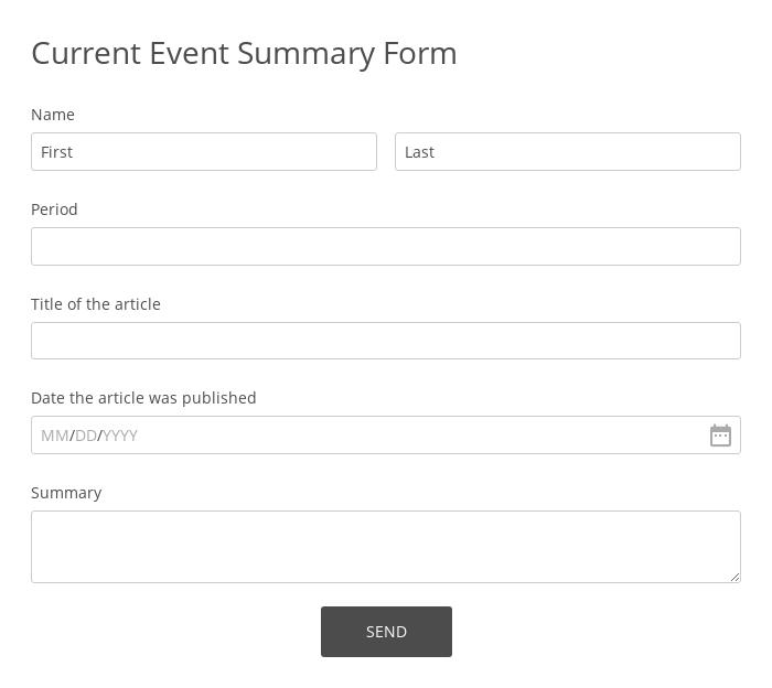 Current Event Summary Form
