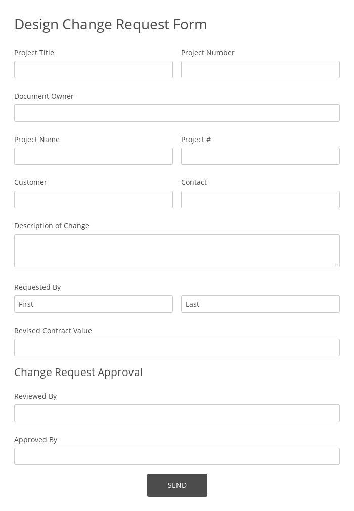 Design Change Request Form