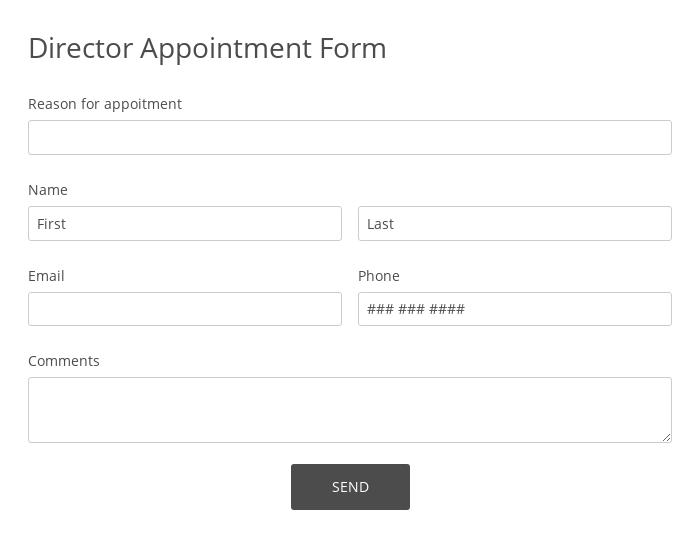 Director Appointment Form