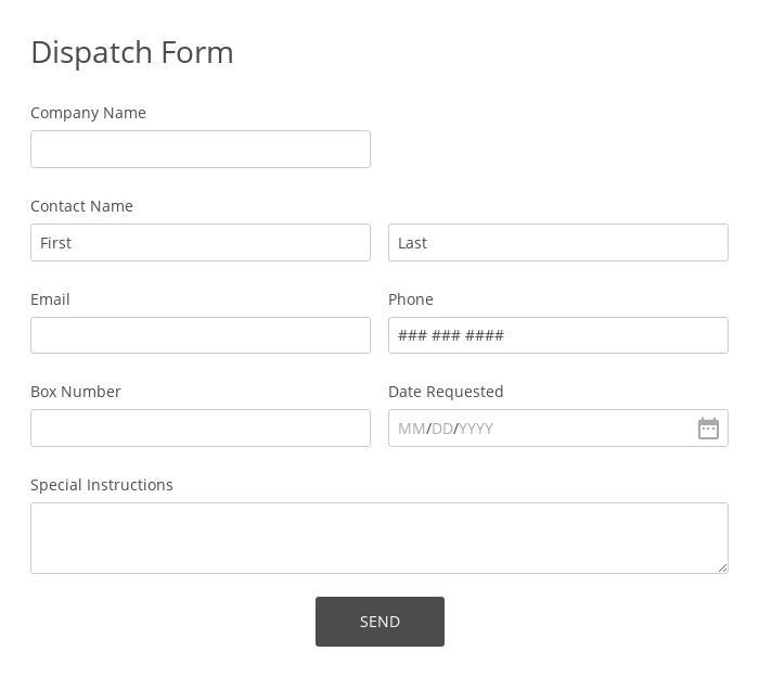Dispatch Form
