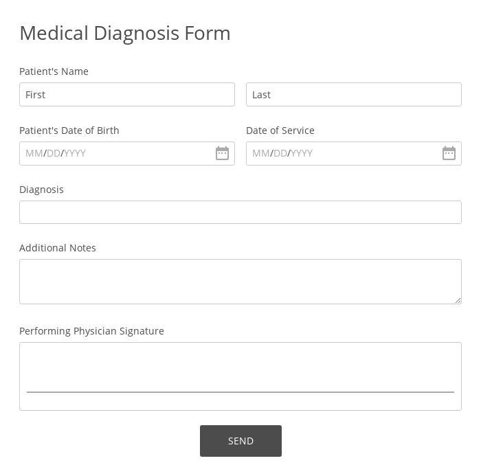 Doctor Diagnosis Form