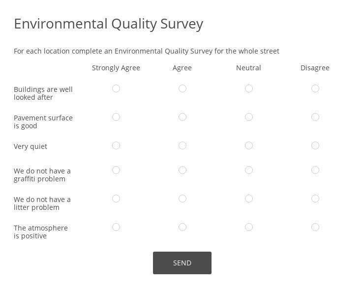 Environmental Quality Survey
