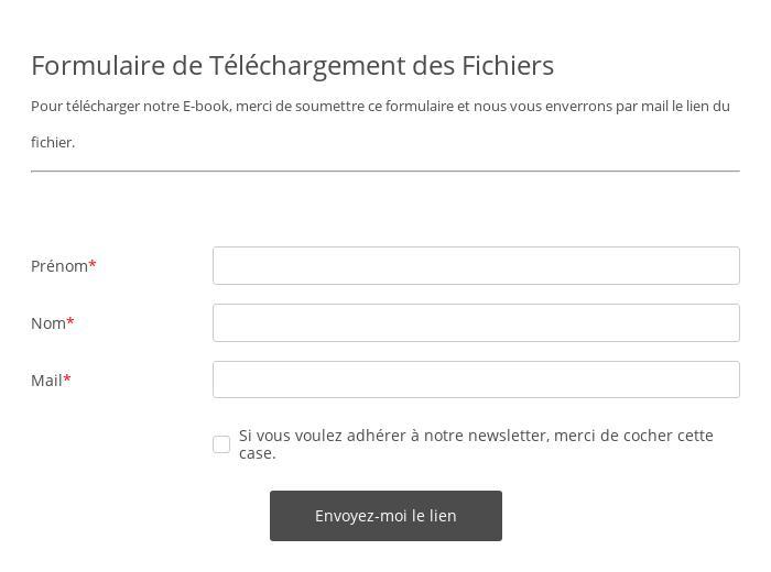 Formulaire de Téléchargement des Fichiers