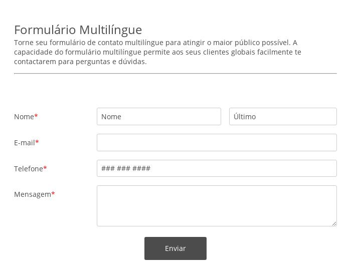 Formulario Multilingüe
