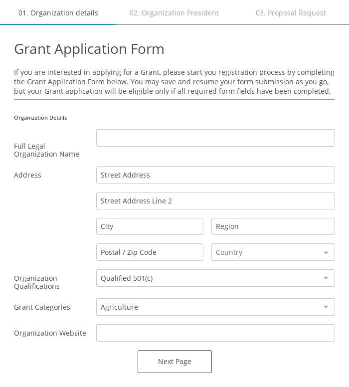 Grant Application Form