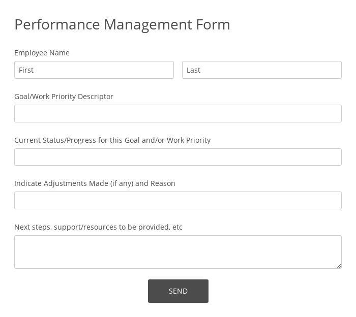 Performance Management Form