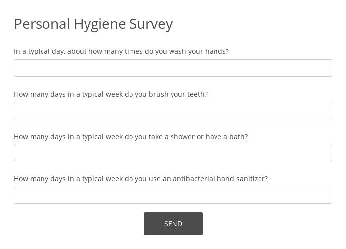 Personal Hygiene Survey