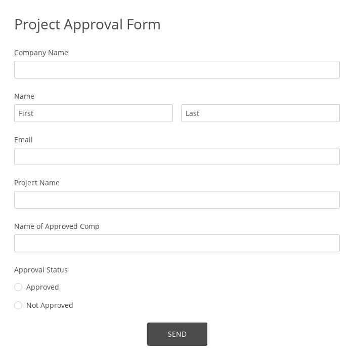 Project Approval Form