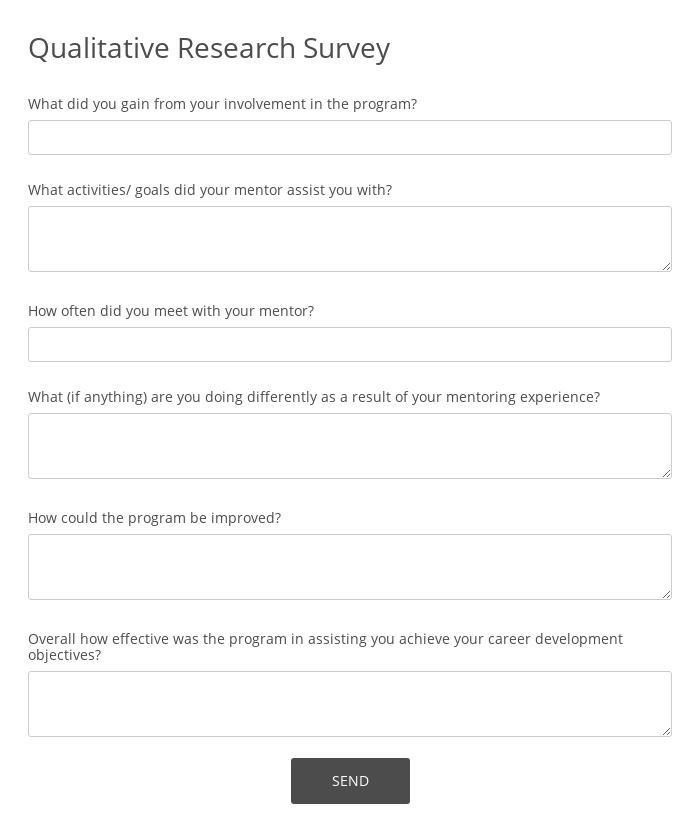 Qualitative Research Survey