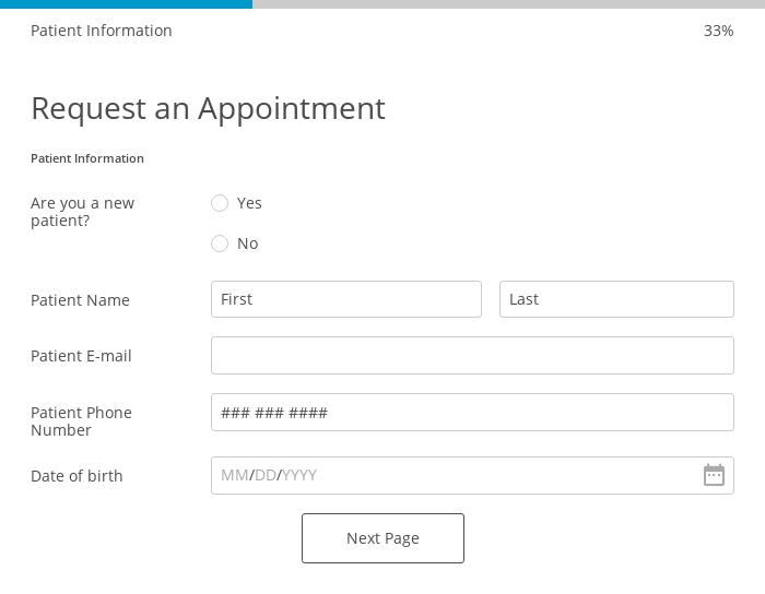 Request a Routine Medical Appointment