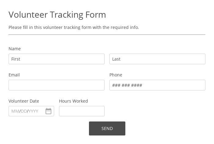 Volunteer Tracking Form